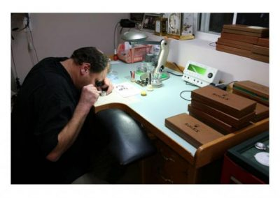 Steve at the Rolex watch service Bench.
