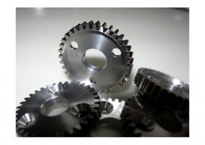 Range of stainless steel gears modified for Inuktun.
