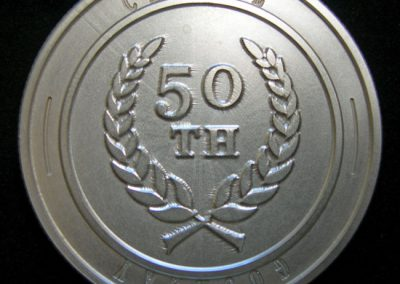 Commemorative coin engraved for birthday.